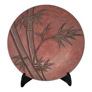 Kamakura Bori Vintage Japan Lacquerware Wood Plate Bamboo Tray For Sale