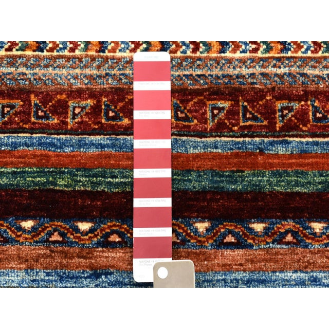 Islamic Khorjin Design Colorful Kazak Pure Wool HandKnotted Rug For Sale - Image 3 of 6