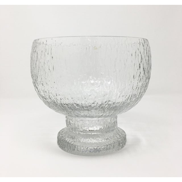 Mid 20th Century Timo Sarpaneva Kekkerit Footed Glass Bowl for Iittala Finland For Sale - Image 12 of 12