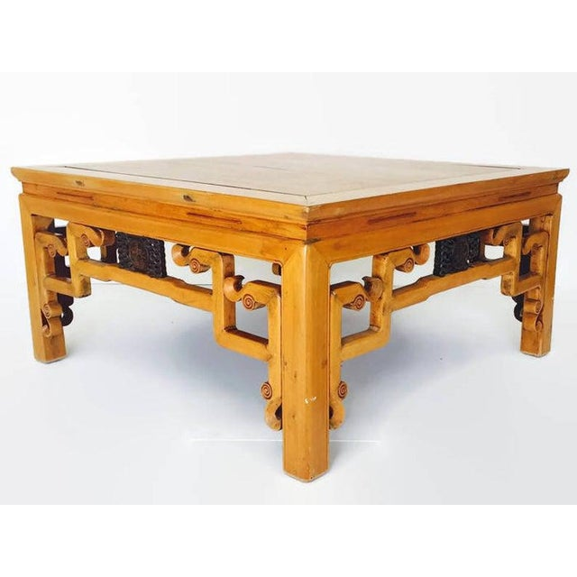Vintage 1940s Tibetan/Chinese Elm Coffee Table For Sale - Image 10 of 13