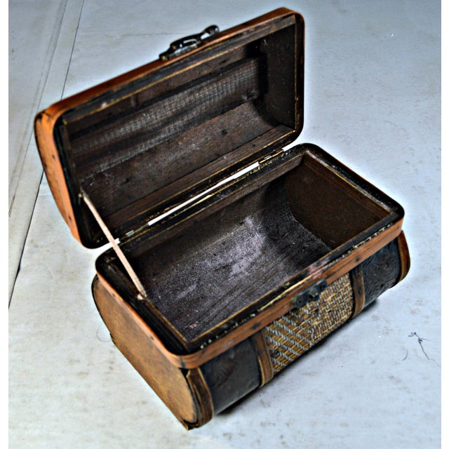 Brass & Wood Coffer for Cigars - Image 6 of 7