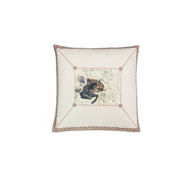Taurus Pillow For Sale - Image 4 of 4