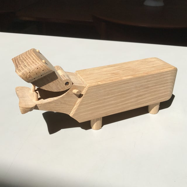 Solid teak hippo designed by Kay Bojesen and made in Denmark. This is a great decoration piece if your a fan of Danish...