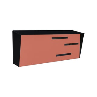 Modern Mailbox - Two Tone Black & Coral For Sale