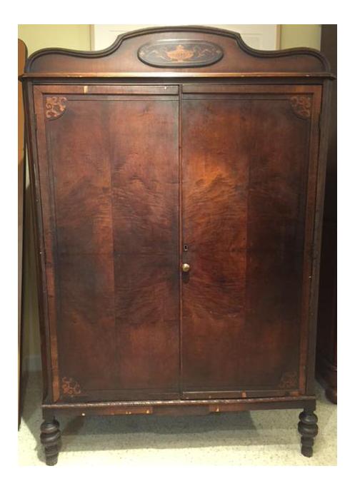 Superieur Antique Walnut Armoire   Image 1 Of 10