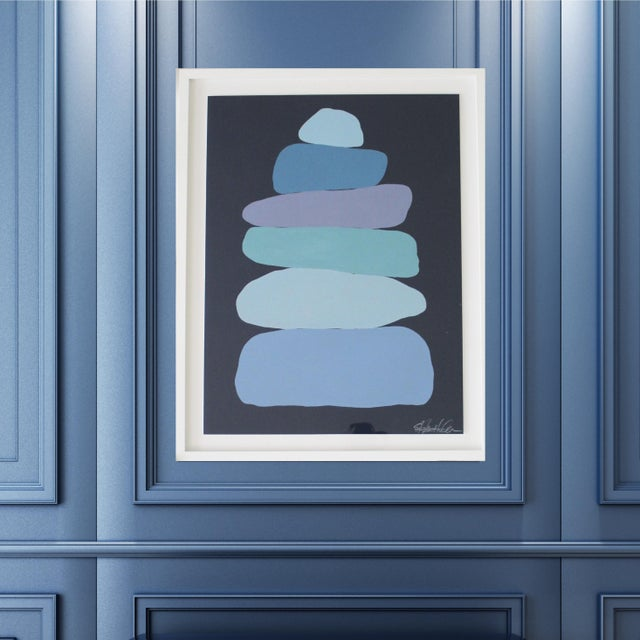 Stephanie Henderson Cairn in Moody Blues Original Painting For Sale - Image 9 of 9