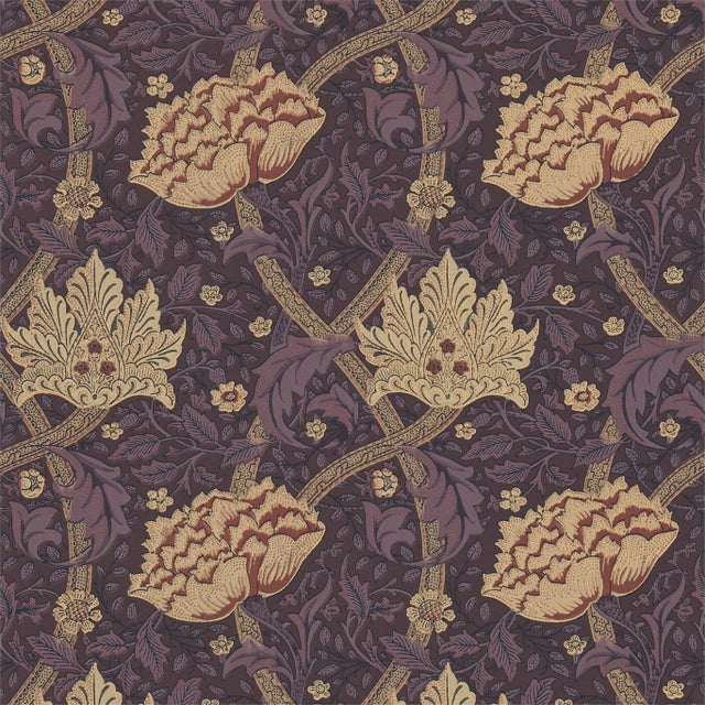 Art & Crafts William Morris Windrush Wallpaper Rolls - 5 Double Rolls For Sale