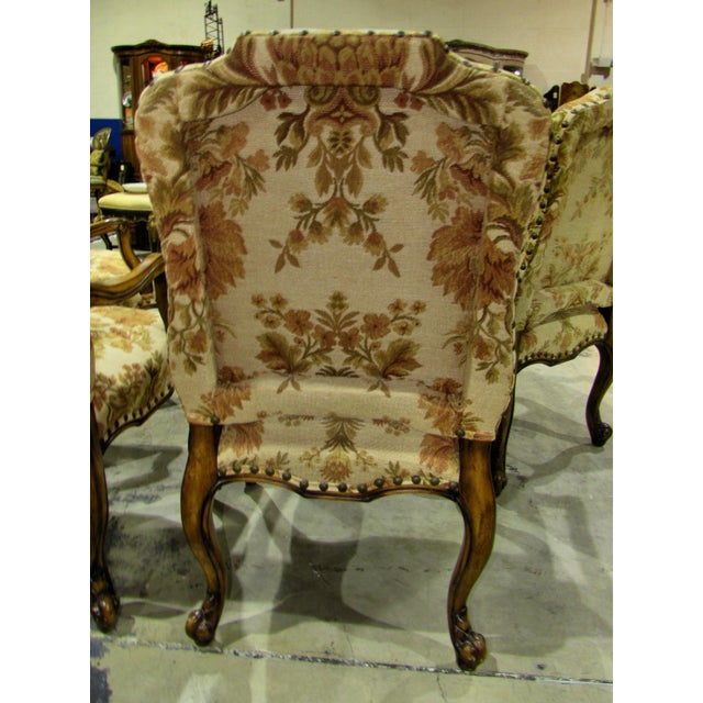 French Country French Country Hooker Furniture Gerard Arm Chairs - Set of 4 For Sale - Image 3 of 8