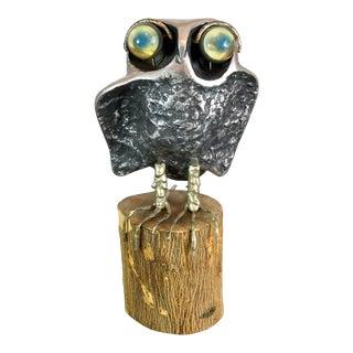 1960s Vintage Curtis Jere Owl Sculpture For Sale