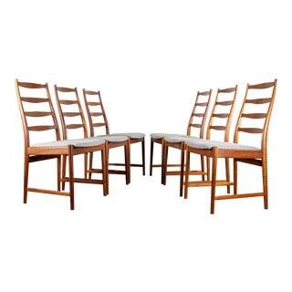 Set/6 Danish Teak Dining Chairs by Torbjørn Afdal for Vamo For Sale