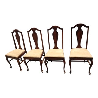 Antique Walnut Chairs - Set of 4 For Sale