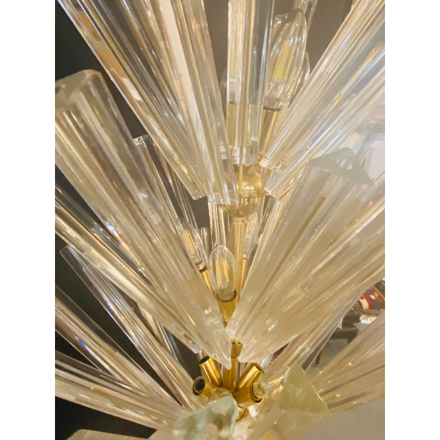 Mid-Century Modern Murano Starburst Chandelier by Camer, 1970's For Sale - Image 9 of 13