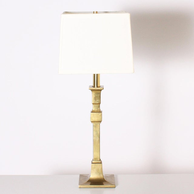 Metal 1970s Chapman Brass Table Lamps - a Pair For Sale - Image 7 of 7