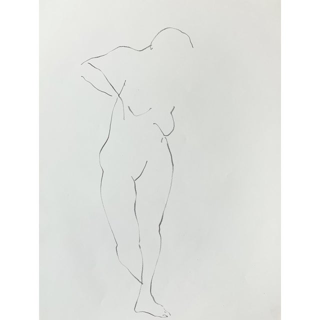 Figurative Nude Drawing by Jack Freeman For Sale