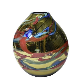Unique Murano Blown Glass Vase For Sale