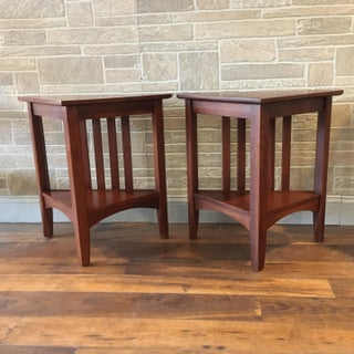 Late 20th Century Ethan Allen Solid Cherry Triangle Corner Side Table Preview
