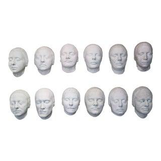 Human Faces Plaster Masks - Set of 12