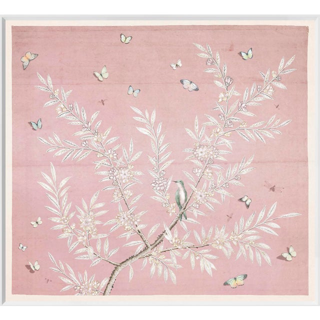 Chinoiserie Art in Blush Print For Sale
