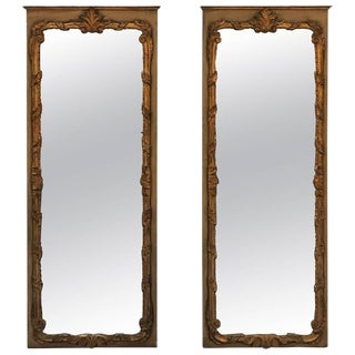 Vintage Italian Parcel Gilt Mirrors - a Pair For Sale