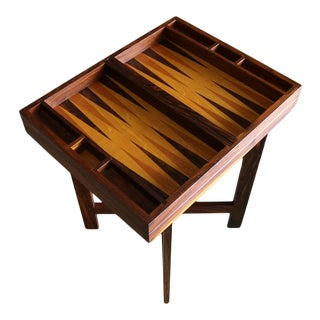 Don Shoemaker Cocobolo Rosewood Backgammon Game Table for Señal. Circa 1970 For Sale