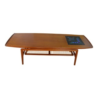Arne Hovmand Olsen for Mogens Kold Teak & Tile Danish Modern Coffee Table For Sale