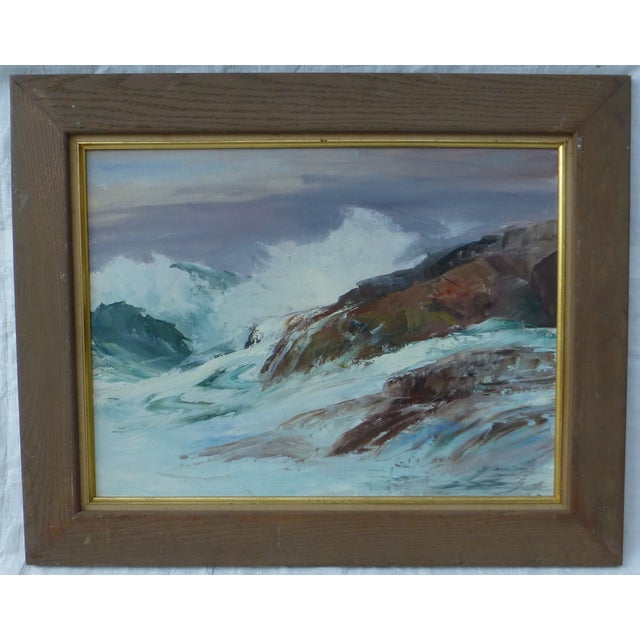 H. L. Musgrave Cape Ann Ocean Painting - Image 2 of 9