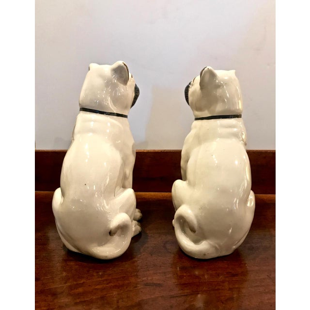 Late 19th Century Pair Staffordshire 19th C. Pugs For Sale - Image 5 of 12