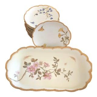 Haviland-Limoges Serving Tray & Plates - Set of 13