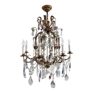 Mid-Century Modern Crystal Chandelier For Sale