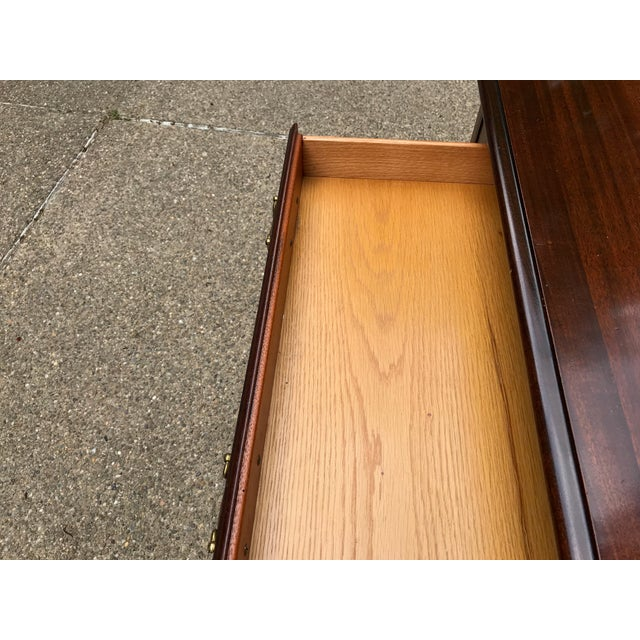 1990s Bombay Co. Chinoserie Wood Desk For Sale - Image 5 of 7