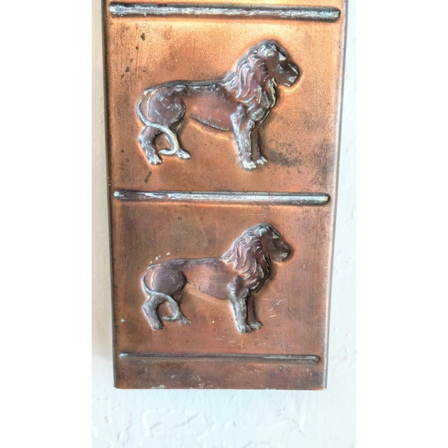 Vintage Copper Chocolate Candy Mold Mould Lion Tray For Sale - Image 4 of 9