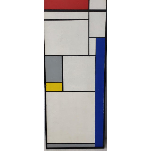 Mid-Century Geometric Abstract Paintings C.1950s - a Pair For Sale In San Francisco - Image 6 of 10
