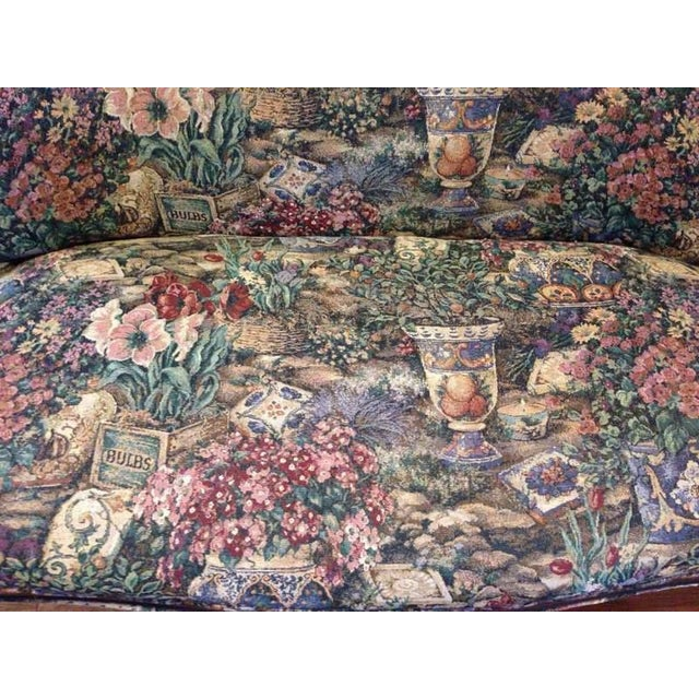 Vintage Carved Walnut Floral Upholstered Setee - Image 5 of 7
