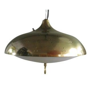 1960s Scandinavian Paavo Tynell Brass Pendant Lamp
