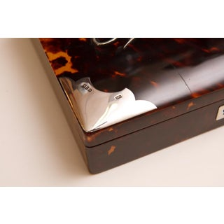 Antique Tortoise Shell Jewelry Box With Silver Mounts Preview