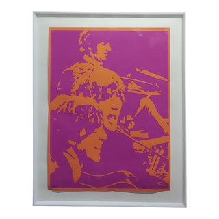 Bob Stanley The Beatles Original 1960s Lithograph For Sale