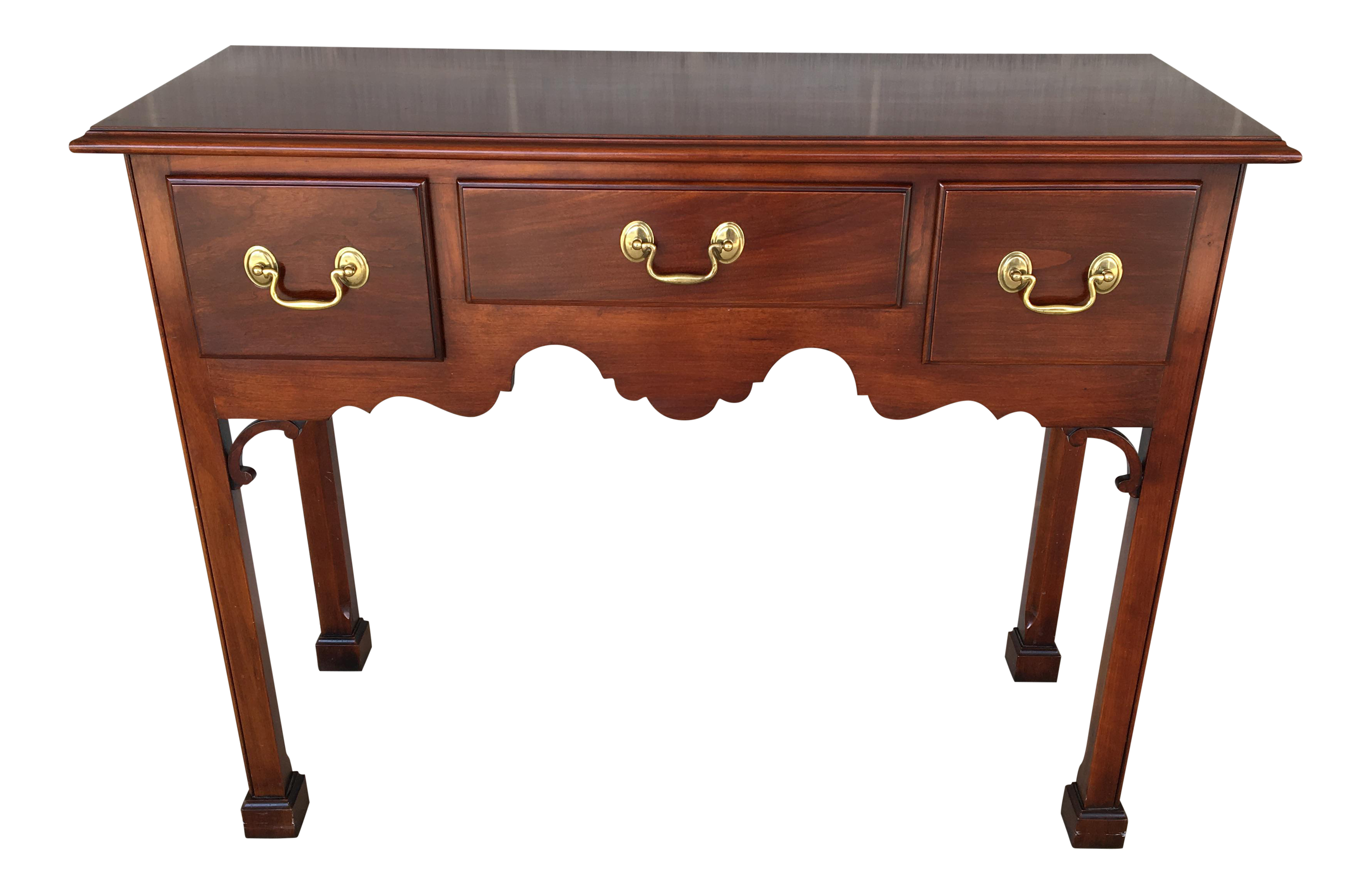 Statton Private Collection Solid Cherry Console Table