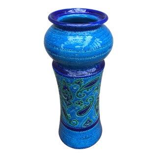 """Bitossi Mid Century """"Rimini Blu"""" Tall Jar For Sale"""
