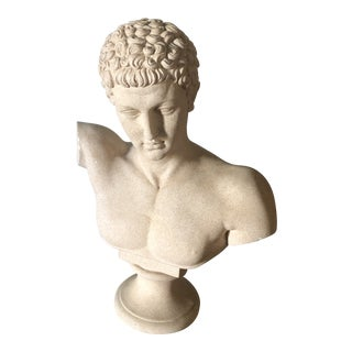 Vintage Male Bust Sculpture For Sale