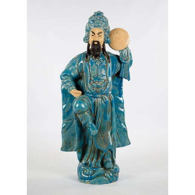 Chinese Ming Dynasty Style Male and Female Porcelain Statues - a Pair For Sale In Atlanta - Image 6 of 13