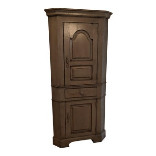 Country Corner Farmhouse Cabinet For Sale