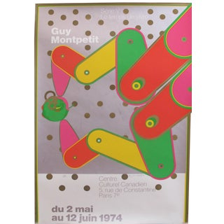 1974 Orignial Vintage Poster for the Centre Culturel Canadien by Guy Montpetit For Sale