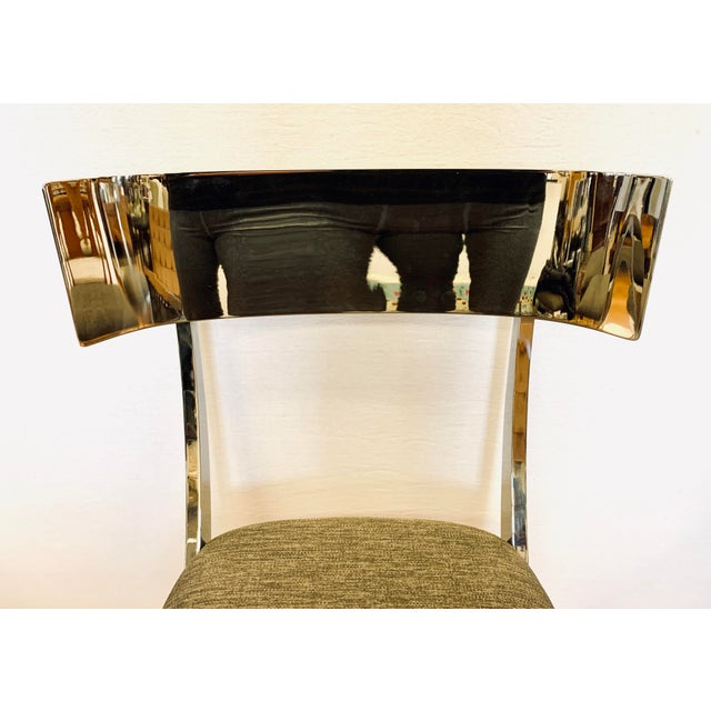 Chrome Klismos Dining Chairs - Set of 6 For Sale - Image 4 of 11