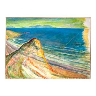 Late 20th Century Vintage California Seascape For Sale