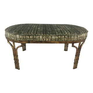 Custom Upholstered Velvet Bench For Sale