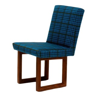 C2 W Houndstooth Peacock Color Chair For Sale