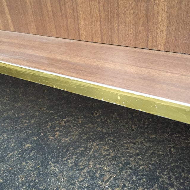Mid-Century Modern Faux Wood Dry Bar - Image 9 of 11