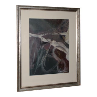Bruce Brown Original Abstract Oil on Paper C.1994 For Sale
