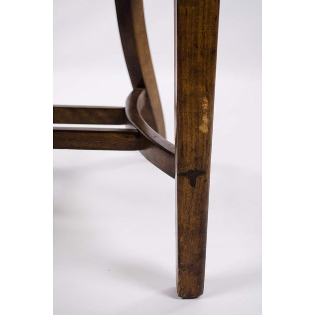 Vintage Mid-Century B. L. Marble Chair Company Walnut Bank of England Style Chair For Sale - Image 9 of 13