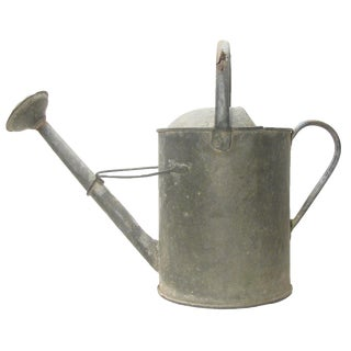 English Large Zinc Watering Can For Sale